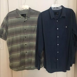 2 Hurley men's shirts